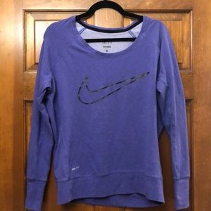 Purple Nike Dri-fit sweatshirt - size small